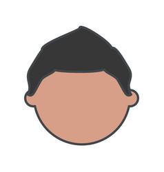 Kid faceless cartoon vector