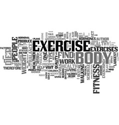 Fitness and exercise advice text background word vector
