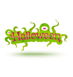 Banner for halloween vector