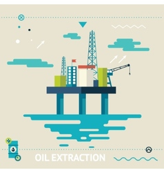 Oil offshore platform colloquially rig symbol vector