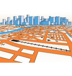 skyline map vector image