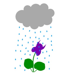 Rainy weather vector
