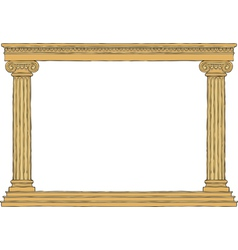 ancient colonnade vector image