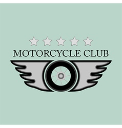 Vintage motorcycle club logo vector
