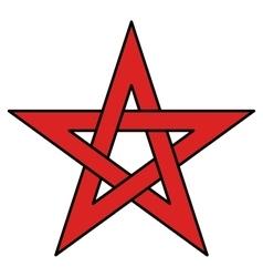 5-point celtic star knot vector