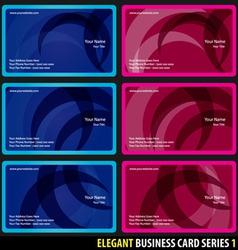 elegant business card vector image
