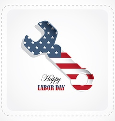 Labor day american holiday vector