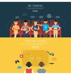 Vecot for 3d cinema and games vector