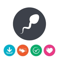 Sperm sign icon fertilization symbol vector