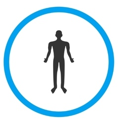 Human body icon vector