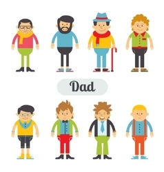 Set of characters in a flat style vector