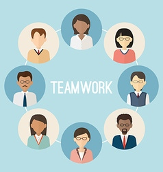 International teamwork colorful business people vector