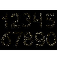 Golden sparkle numbers vector