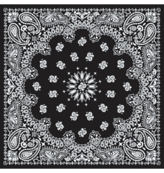 Bandana black vector