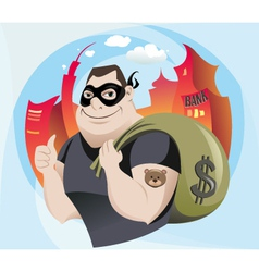 Bank robber vector