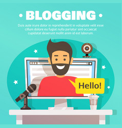 blogger workspace background vector image
