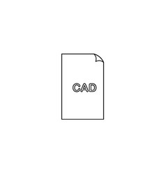 Cad format document line icon outline sign linear vector