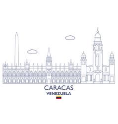 Caracas city skyline vector