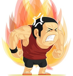 Cartoon of angry man vector