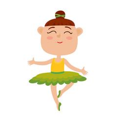 cartoon of happy little girl vector image