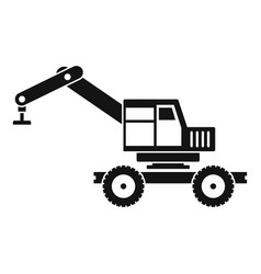 Crane truck icon simple vector