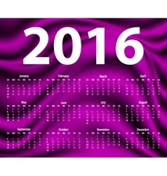 Elegant template for 2016 calendar vector