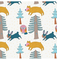 forest paper craft vector image vector image