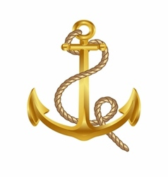 Gold anchor art icon symbol vector