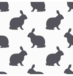 Hare silhouette seamless pattern rabbit meat vector
