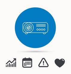 projector icon video presentation device sign vector image vector image