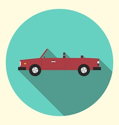 Red cabriolet car icon vector image