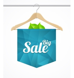 Sale collections template clothes hanger vector image vector image