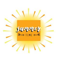 summer card abstract sun vector image