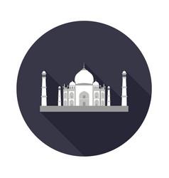 Taj mahal flat icon vector
