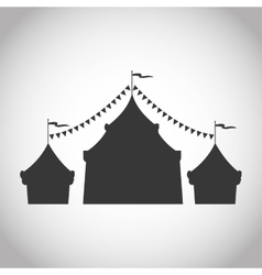 Tent of carnival and festival design vector