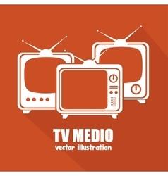 tv medio design vector image