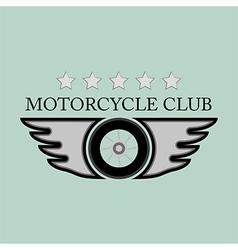 Vintage motorcycle club logo vector