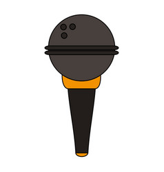 white background with wireless hand microphone vector image vector image