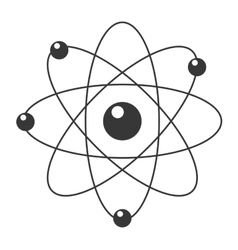 Cartoon atom icon vector