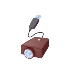 Electronic cigarette usb cable charge icon vector