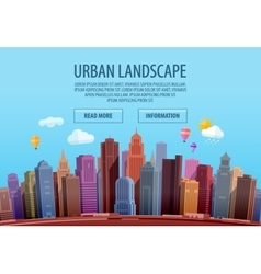 Urban cityscape colorful building and city vector