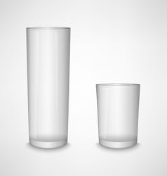 Blank white clear glass template vector