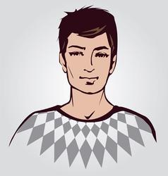 man face vector image