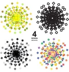 Beautiful color grunge design elements vector image