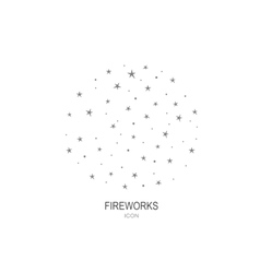 Fireworks logo icon celebration concept vector