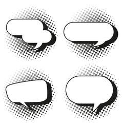four design of speech bubbles vector image
