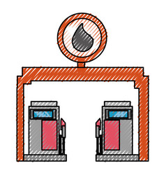 gasoline dispenser station vector image