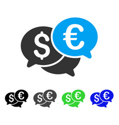 Currency bids flat icon vector