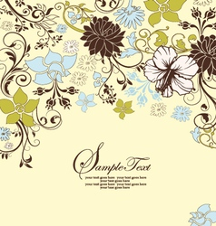 Invitation or wedding card vector image