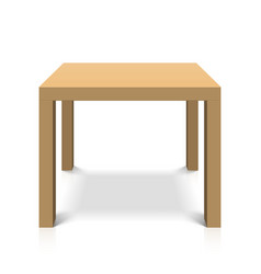 Wooden square coffee table vector image
